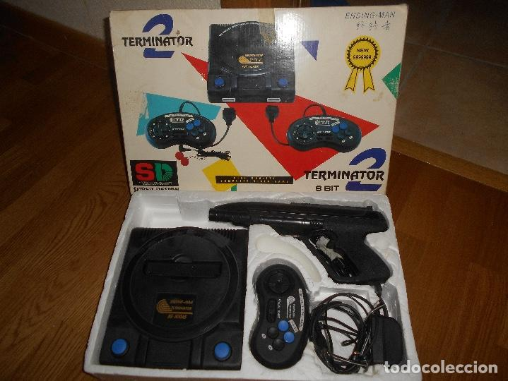 Videojuegos y Consolas: Consola Terminator 2 8 bit nes nasa Clonica Famicom - Foto 2 - 155397742