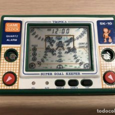 Videojuegos y Consolas: MAQUINITA LCD GAME CLOCK TRONICA SUPER GOAL KEEPER SK-10. Lote 155488850