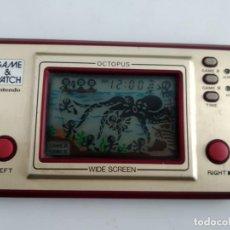 Videojuegos y Consolas: ANTIGUA MAQUINITA GAME WATCH DE NINTENDO OCTOPUS FUNCIONANDO . Lote 155780550