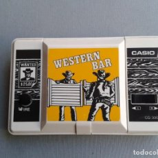 Videojuegos y Consolas: CASIO GAME&WATCH WESTERN BAR CG-300 VERY GOOD CONDITION FULL WORKING RARE++!!! R8839. Lote 155916446