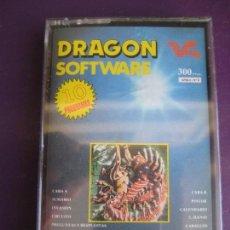 Jeux Vidéo et Consoles: DRAGON SOFTWARE Nº3 - CASETE SIN PRECINTO- 10 PROGRAMAS - INVASION - CIRCUITO - CABALLOS - ETC.... Lote 163444860
