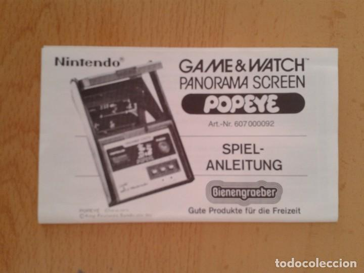 NINTENDO GAME&WATCH PANORAMA POPEYE PG-92 ORIGINAL GERMAN INSTRUCTION MANUAL!!! R8924 (Juguetes - Videojuegos y Consolas - Otros descatalogados)