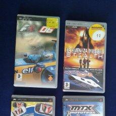 Videojuegos y Consolas: LOTE 4 JUEGOS PARA PSP, VER FOTOS Y LEYENDA. Lote 162488974