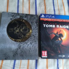 Videojuegos y Consolas - solo caja metalica steelbook tamaño ps3 ps4 xone SHADOW OF THE TOMB RAIDER limited edition kreaten - 164621534