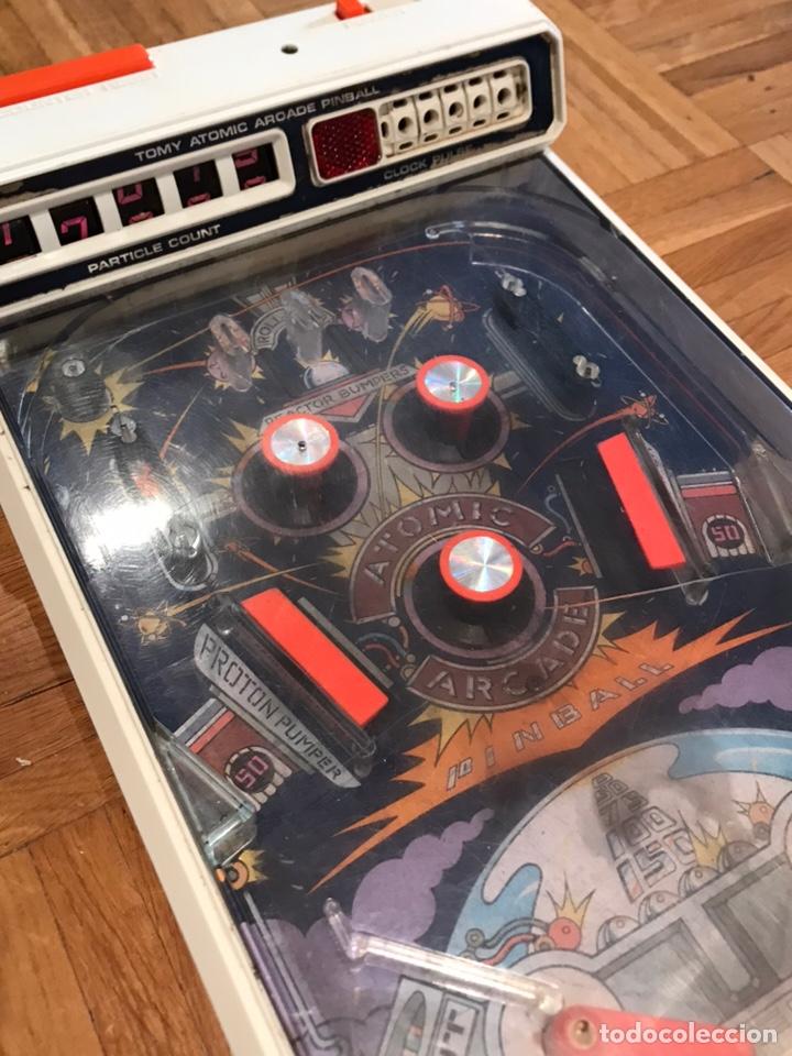 Videojuegos y Consolas: Juego pinball Tomy Atomic arcade años 80 - Foto 2 - 164915094