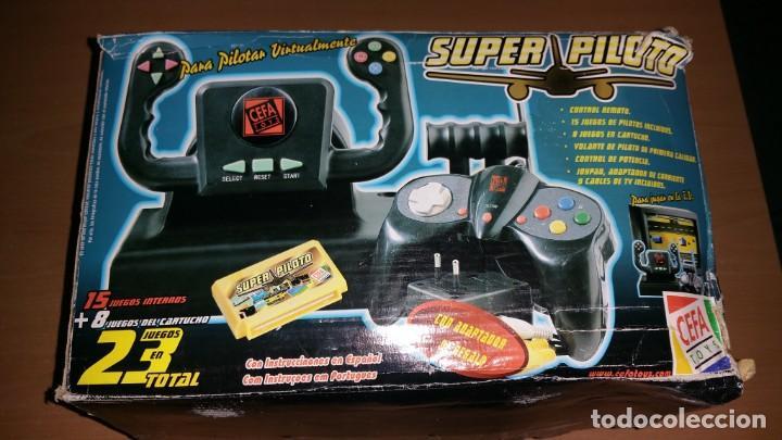 Videojuegos y Consolas: Consola Super piloto de Cefa 23 juegos - Foto 2 - 165178650