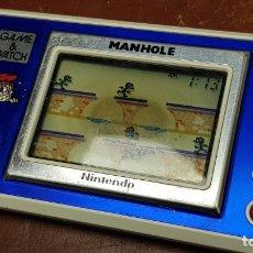 Videojuegos y Consolas: MAQUINA GAME WATCH MANHOLE DE NINTENDO MODELO NH-103 AÑO 1983 MAQUINITA VIDEOJUEGO. Lote 166812666