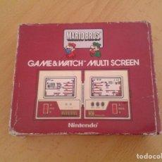 Videojuegos y Consolas: NINTENDO GAME&WATCH MULTISCREEN MARIO BROS. MW-56 SOLO CAJA BUEN ESTADO VER R9075. Lote 166875884