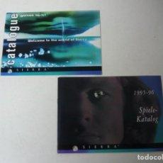 Videojuegos y Consolas - SIERRA - Lote 2 catálogos de juegos PC / Retro Vintage / Clásico / Videojuego - 166992640
