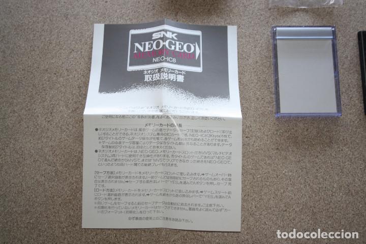 Videojuegos y Consolas: TARJETA MEMORY CARD * SNK * NEO IC8 PARA NEO GEO AES - Foto 3 - 167693232