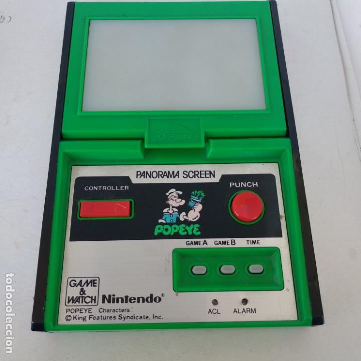 Videojuegos y Consolas: Popeye panorama screen game & watch nintendo g&w game&watch PG-92 - Foto 2 - 168357240