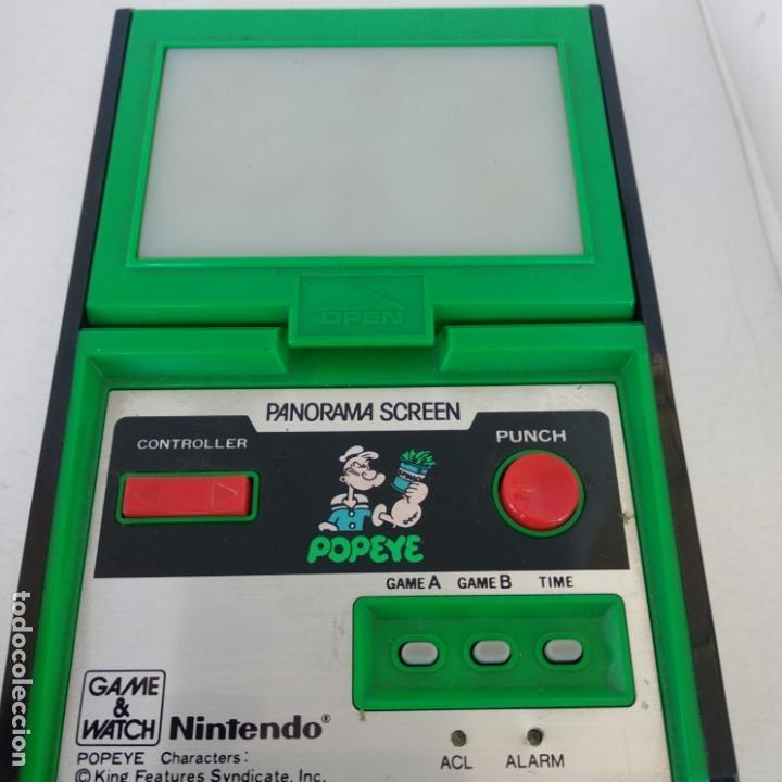 Videojuegos y Consolas: Popeye panorama screen game & watch nintendo g&w game&watch PG-92 - Foto 6 - 168357240