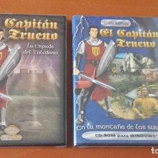 Videojuegos y Consolas: EL CAPITÁN TRUENO LOTE 2 JUEGOS ZETA MULTIMEDIA. Lote 168613472