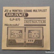 Videojuegos y Consolas: NINTENDO GAME&WATCH MULTISCREEN RAIN SHOWER LP-57 ORIGINAL FRENCH MANUAL RARE++! R9264. Lote 170117120