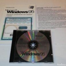 Videojuegos y Consolas: CD WINDOWS 95 CON MANUAL INSTRUCCIONES PRODUCTO ORIGINAL ESPAÑA ESPAÑOL. Lote 171066312