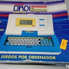 Videojuegos y Consolas: ANTIGUO ORDENADOR - CONSOLA SUPER ORDI LINGUA CON VOZ,IMC,CAJA ORIGINAL. PERF. ESTADO Y FUNCIONANDO. Lote 173667685