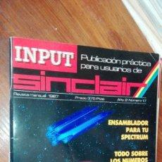 Videojuegos y Consolas: REVISTA INPUT SINCLAIR Nº 17. Lote 175348700