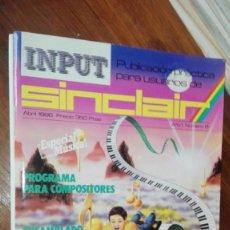 Videojuegos y Consolas: REVISTA INPUT SINCLAIR Nº 8. Lote 175348819