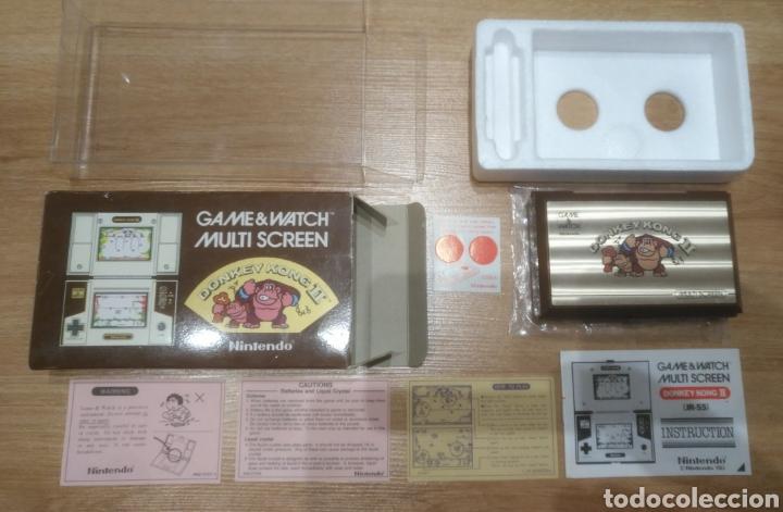 Videojuegos y Consolas: GAME WATCH NINTENDO DONKEY KONG II JR-55 - Foto 2 - 175817928