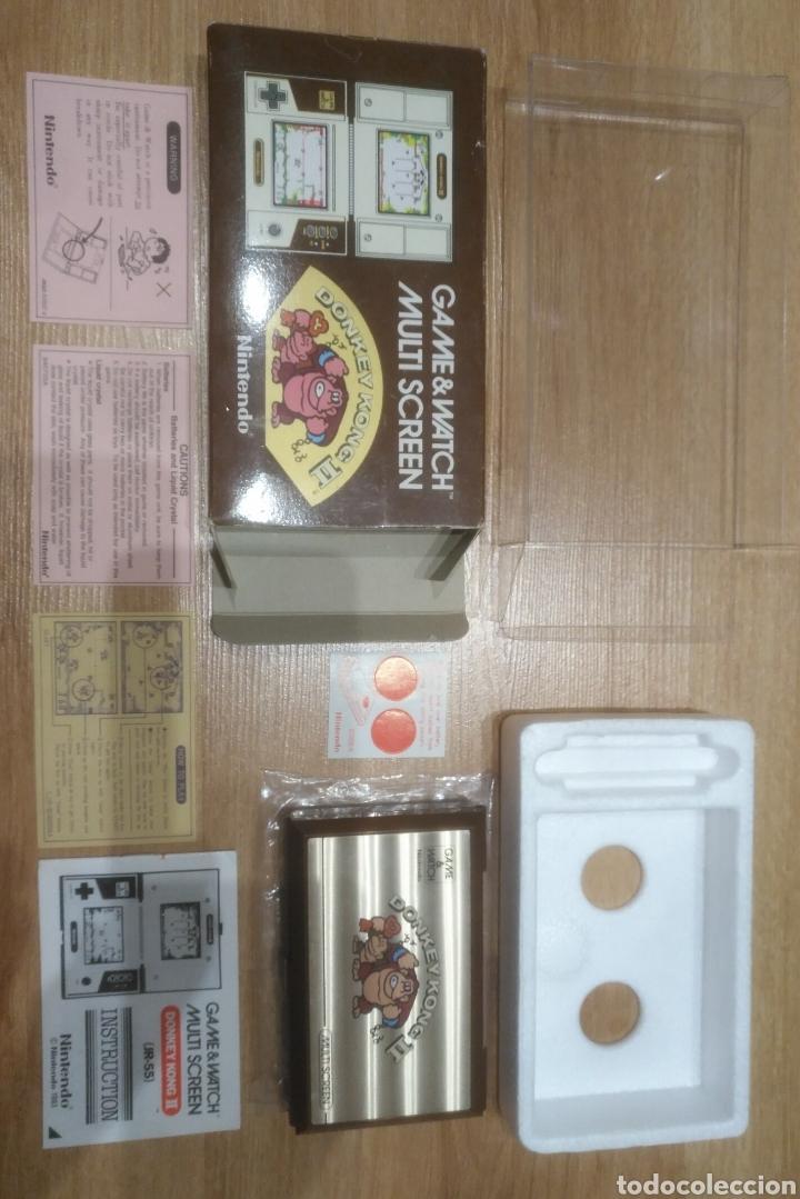 Videojuegos y Consolas: GAME WATCH NINTENDO DONKEY KONG II JR-55 - Foto 11 - 175817928
