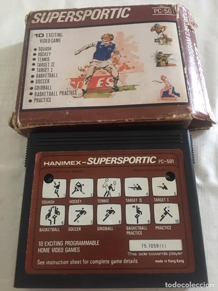 ANTIGUO CARTUCHO CONSOLA DE JUEGO HANIMEX - SUPERSPORTIC- PC - 501 (Juguetes - Videojuegos y Consolas - Otros descatalogados)