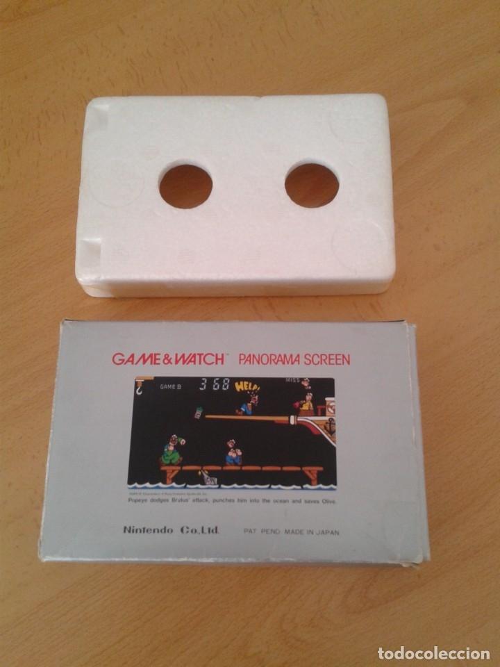 Videojuegos y Consolas: NINTENDO GAME&WATCH PANORAMA POPEYE PG-92 CAJA COMPLETA BOX&FOAM VER NEAR MINT R9365 - Foto 2 - 177812273