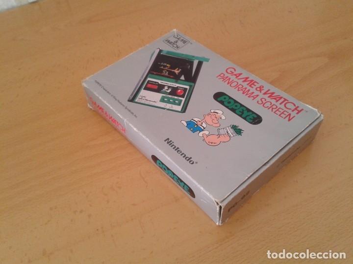 Videojuegos y Consolas: NINTENDO GAME&WATCH PANORAMA POPEYE PG-92 CAJA COMPLETA BOX&FOAM VER NEAR MINT R9365 - Foto 5 - 177812273