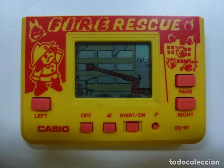 MAQUINITA CASIO FIRE RESCUE CG-97. 1986. FUNCIONA. (Juguetes - Videojuegos y Consolas - Otros descatalogados)