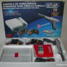 Videojuegos y Consolas: FANTÁSTICA CONSOLA NASA NUEVA EN SU CAJA ORIGINAL Y CON CARTUCHO DE JUEGO - CLÓNICA DE NINTENDO NES. Lote 178935545