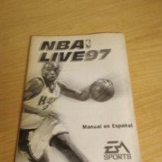 Videojuegos y Consolas: NBA LIVE 97 EA SPORTS MANUAL EN ESPAÑOL. Lote 179048558