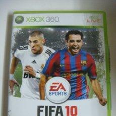 Videojuegos y Consolas: VIDEO JUEGO XBOX 360 EA SPORTS FIFA 10 CON SU LIBRILLO. Lote 179106407