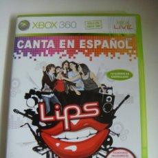 Videojuegos y Consolas: VIDEO JUEGO XBOX 360 CANTA EN ESPAÑOL LIPS CON SU LIBRILLO. Lote 179106675