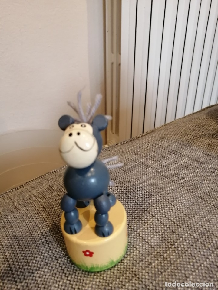 Videojuegos y Consolas: Antiguo juguete articulado de madera Goula - Foto 2 - 179131166