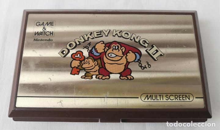 VIDEOCONSOLA. GAME & WATCH. DONKEY KONG II. NINTENDO. MADE IN JAPAN. AÑO 1983. (Juguetes - Videojuegos y Consolas - Otros descatalogados)