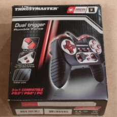 Videojuegos y Consolas: DUAL TRIGGER RUMBLE FORCE. THUSTMASTER. 3 IN 1 COMPATIBLE PS3/PS2/PC.. Lote 179383046