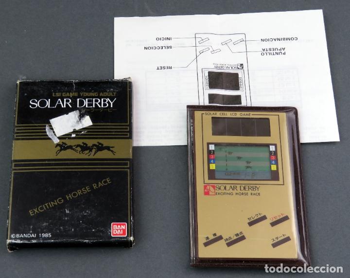 MAQUINITA SOLAR DERBY BANDAI 1985 GAME WATCH FUNCIONA CARRERAS CABALLOS (Juguetes - Videojuegos y Consolas - Otros descatalogados)