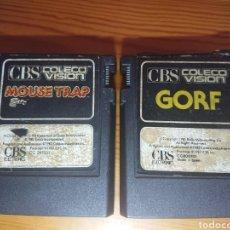 Videojuegos y Consolas: LOTE 2 JUEGOS COLECO VISIÓN - GORF + MOUSE TRAP (COLECOVISION). Lote 181127223