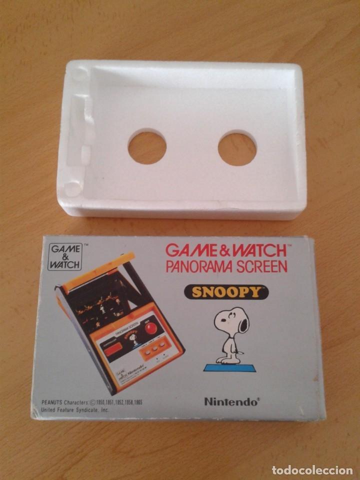 NINTENDO GAME&WATCH PANORAMA SNOOPY SM-91 CAJA COMPLETA BOX&FOAM VER NEAR MINT R9579 (Juguetes - Videojuegos y Consolas - Otros descatalogados)