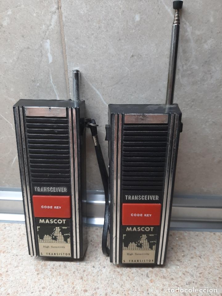 PAREJA DE WALKIE TALKIE TRANSCEIVER MASCOT * FUNCIONANDO * (Juguetes - Videojuegos y Consolas - Otros descatalogados)