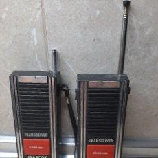 Videojuegos y Consolas: PAREJA DE WALKIE TALKIE TRANSCEIVER MASCOT * FUNCIONANDO *. Lote 182230185