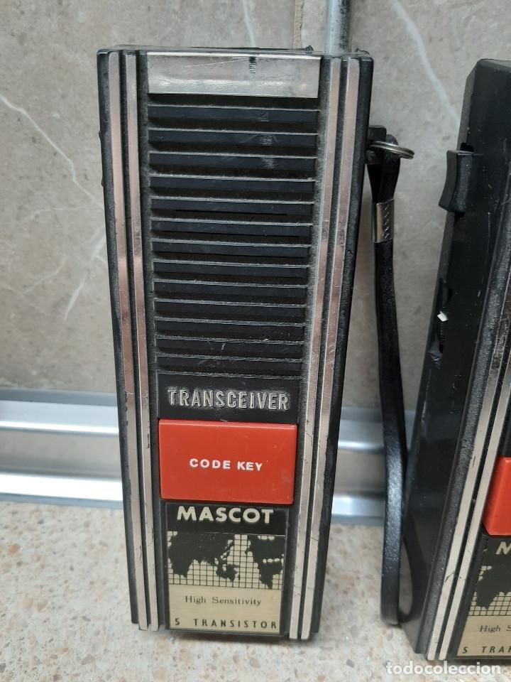 Videojuegos y Consolas: PAREJA DE WALKIE TALKIE TRANSCEIVER MASCOT * FUNCIONANDO * - Foto 2 - 182230185