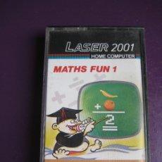 Videojuegos y Consolas: LASER 2001 - HOME COMPUTER - MATHS FUN 1 - VIDEOJUEGO 80'S - DIRIA Q SIN USO. Lote 182823221