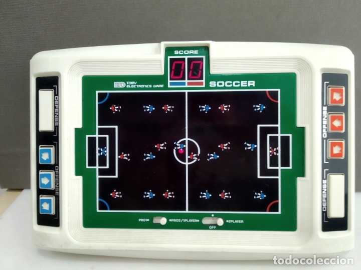 ANTIGUA MAQUINITA TIPO GAME WATCH TOMY MADE IN JAPAN SOCCER FUNCIONANDO (Juguetes - Videojuegos y Consolas - Otros descatalogados)