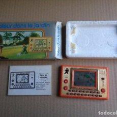 Videojuegos y Consolas: MAQUINITA TRÓNICA THIEF IN GARDEN - LCD GAME -MADE IN JAPAN - 1983 -CON CAJA E INSTRUCCIONES. Lote 183762270