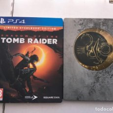 Videojuegos y Consolas: CAJA METALICA VACIA STEELBOOK SHADOW OF THE TOMB RAIDER LIMITED EDITION KREATEN. Lote 184455958