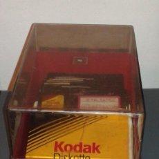Videojuegos y Consolas: CAJA/FICHERO CON DISCOS FLEXIBLES DE 5,25 PULGADAS. Lote 185214120