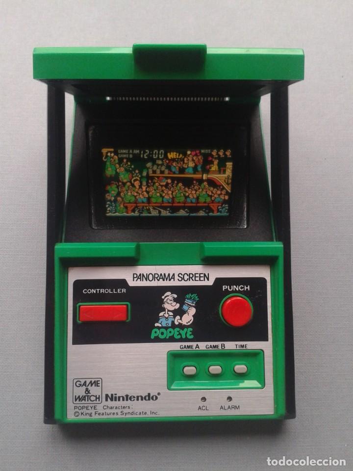 NINTENDO GAME&WATCH PANORAMA POPEYE PG-92 NEAR MINT CONDITION FULL WORKING!! R9841 (Juguetes - Videojuegos y Consolas - Otros descatalogados)