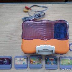 Videojuegos y Consolas: CONSOLA VTECH VSMILE + 5 JUEGOS + TECLADO + MANDO + TABLA. Lote 189296887