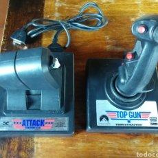 Videojuegos y Consolas: JOYSTICK TOP GUN Y MANDO ATTACK THROTTLE. Lote 189472273