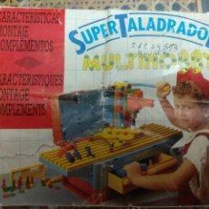 Videojuegos y Consolas: MANUAL DE INSTRUCCIONES FOLLETO DEL MALETIN TRABAJO SUPER TALADRADOR FEBER MULTIHOBBY AÑOS 80. Lote 180252448